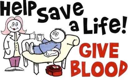 NHS Blood Drive:  September 1, 2016 2-6pm in school commons